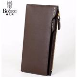 Spesifikasi Dompet Kulit Impor Bogesi 837 Korean Style Elegan Pria Wanita Clutch Fashion Wallet Coklat Yang Bagus Dan Murah