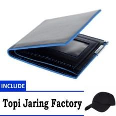 Dompet kulit Import pria sejati pelaku fashion - Include Topi Jaring Factory