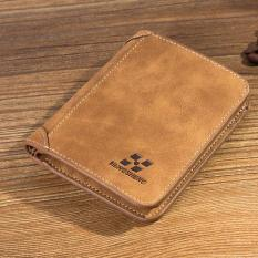 Dompet Kulit Pria Bahan Nubuck Model Vertical Brown Original