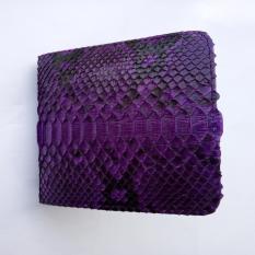 Dompet Kulit Ular Python / Sanca Asli Model Bifold Elegan Fashionable