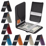 Jual Dompet Money Clip Ultra Slim Men Wallet Card Holder Leather Kulit Coklat Winros Grosir