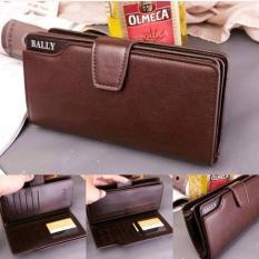 Jual Dompet Pria Wanita Bally Leather Wallet Soft Leather Purse Phone Bag I Dompet Kartu Online