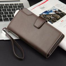 Review Tentang Dompet Pria Men Long Wallet Zipper Credit Cards Mobile Phone Holder