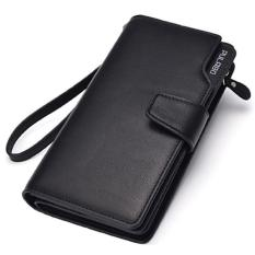 Beli Dompet Pria Pulabo Leather Wallet Soft Leather Purse Phone Bag Casual Purse Clutch Long Design Business Fashion Import Hitam Online Terpercaya