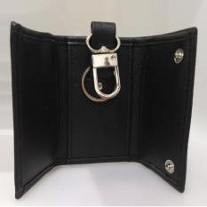 Dompet STNK / Gantungan kunci Mobil / Motor Motif Jeruk - PU Leather - Black