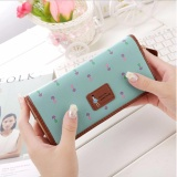 Harga Korean Fashion Style Dompet Wanita Import Purse Bag Import Leather Wallet Purse Korea Zipper Dan Kancing Hijau Tosca Yang Bagus