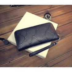 Harga Korean Fashion Style Dompet Wanita Import Purse Bag Purse Import Leather Weave Long Wallet Black Intl Fullset Murah