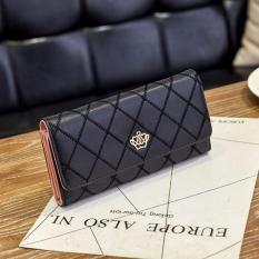 Harga Korean Fashion Style Dompet Wanita Model Import Bag Purse Leather Crown Logo Motif Hitam Origin