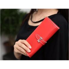 Rp 44.910. Korean Fashion Style Dompet Wanita Simple Import Bag Purse Leather Panjang Kartu - RedIDR44910