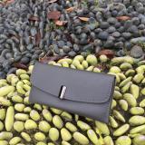Review Dompet Wanita Wallet Best Quality Import Logo Tegak Abu Abu Terbaru