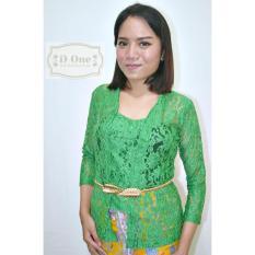 D.ONE.SHOP Kebaya Kutubaru Brokat Soltis Premium - Hijau