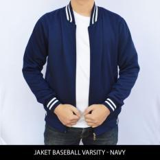 DONI STORE Jaket Baseball Varsity Polos NAVY