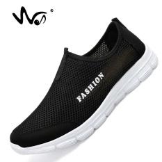 DOREMI Sneakers Pria Musim Panas Bernapas Mesh Sepatu Olahraga untuk Pria Outdoor Super Light Menjalankan Sepatu Pasangan Sepatu (hitam) -Intl