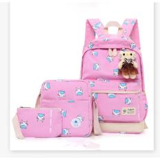 DoubleC Fashion Backpack 3in1 Monster Cat