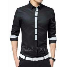 Harga Doublec Fashion Kemeja Arron Black Baru Murah