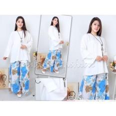 DoubleC Fashion Setelan Kulot Asifa Blue