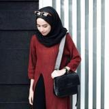 Jual Doublec Fashion Sweater Slit Maroon Murah