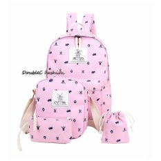 Jual Beli Doublec Fashion Tas Backpack 4In1 Pink