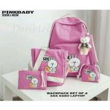 Promo Doublec Fashion Tas Backpack 4In1 Isee Pink Akhir Tahun