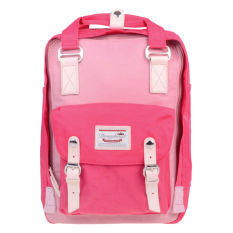 Kualitas Donat Waterproof Students Backpack Nilon Travel Backpack Fashion Tas Komputer Rose Red Doughnut