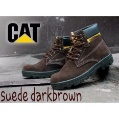 DOZN Sepatu boots caterpillar - caterpilar safety boots COKLAT TUA