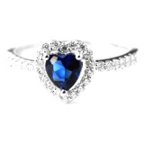 Jual Dparis Blue Heart Rings Lengkap