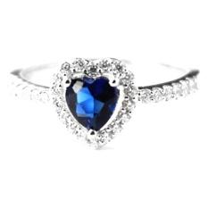Jual Dparis Blue Heart Rings Baru
