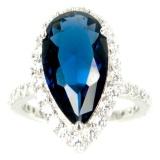 Harga Dparis Cincin Lapis Blue Saphire Oval Yg Bagus
