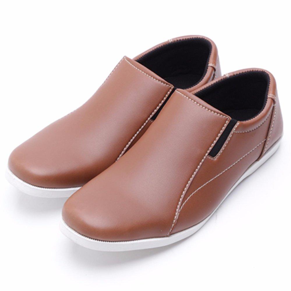 Shoes Dr Kevin Men Casual 13245 Camel Brown Cokelat Muda 39 Drkevin Sepatu Slip On Pria 13140 Hitam Nyaman Dipakai