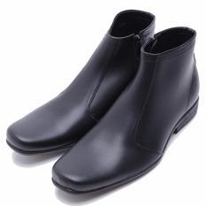 Harga Dr Kevin Sepatu Boot Pria Formal 1025 Hitam Kulit Sintetis Seken