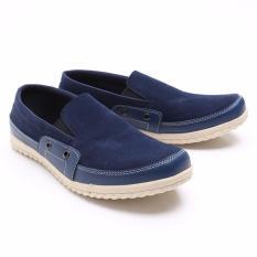 Jual Dr Kevin Sepatu Slip On Casual Pria 13205 Navy Sepatu Pria Elegan Nyaman Dipakai Grosir