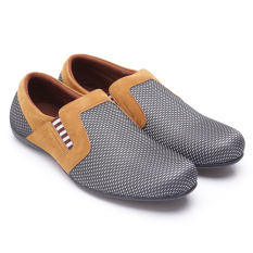 Beli Dr Kevin Men Casual Shoes 13247 Silver Tan Seken