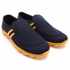 Promo Dr Kevin Men Casual Shoes 13270 Black Yellow Dr Kevin Shoes