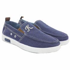 Toko Dr Kevin Men Sneaker Slip On 13272 Blue Dr Kevin Shoes Online