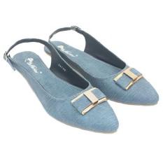 Dr Kevin Sandal Sepatu Flat Wanita 26129 Biru - Flat Cewek Bertali - Nyaman dipakai
