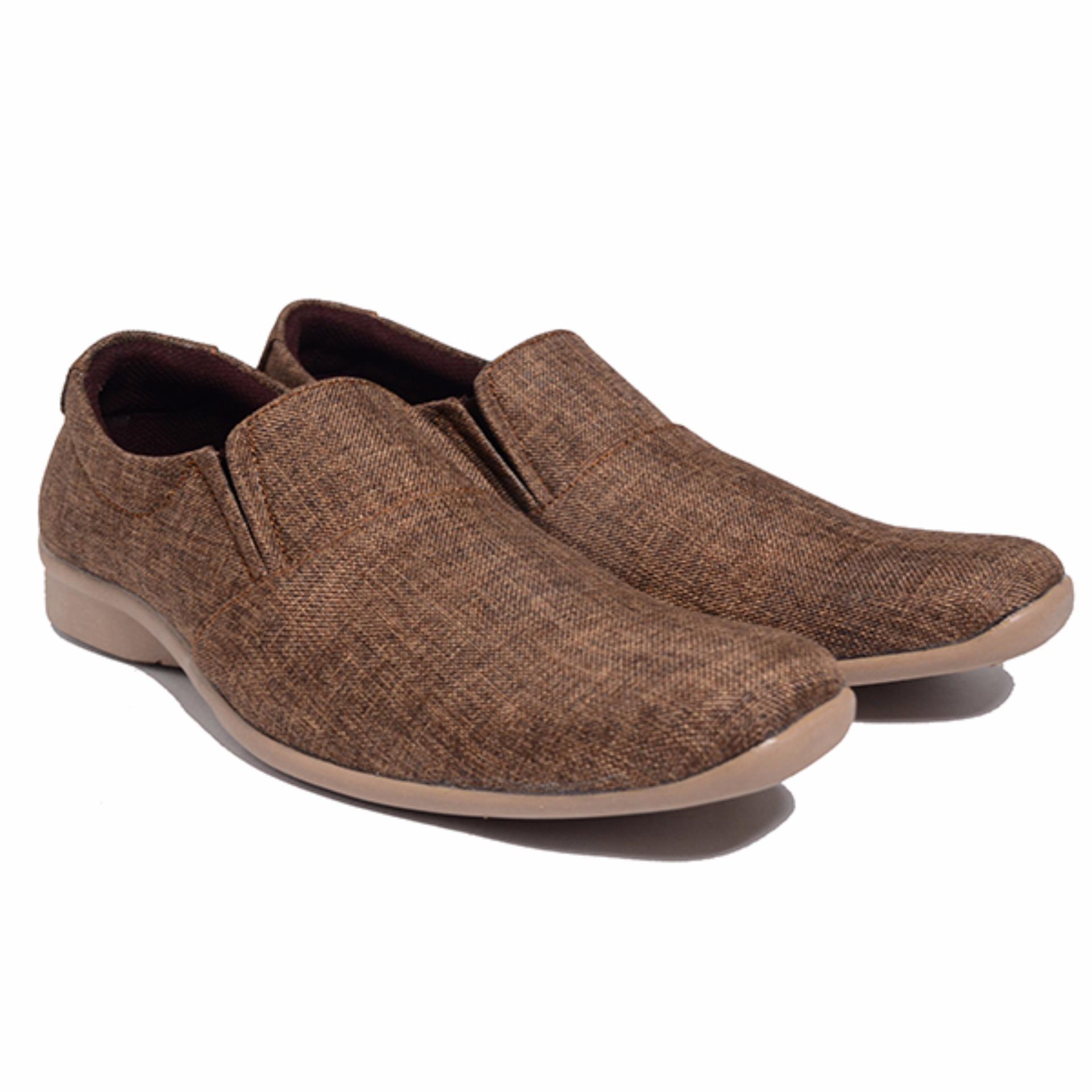 DR KEVIN SHOES - Sepatu Kasual Pria 13286 - Coklat