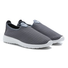Dr. Kevin Sepatu Olahraga Pria Slip On 9307 Abu - Sepatu Running Jogging Walking Gym Pria - Sepatu Santai Kasual Pria
