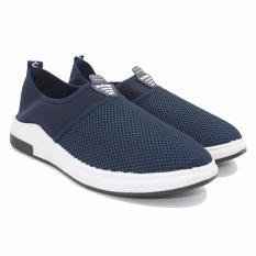 Beli Dr Kevin Sepatu Pria Slip On 13316 D Blue Sneakers Pria Desain Simpel Elegan Nyaman Dipakai Dr Kevin Murah