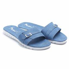 Beli Dr Kevin Woman Flat Sandals 27351 Navy Online