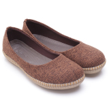 Model Dr Kevin Women Ballerina Flat Shoes 43160 Brown Terbaru