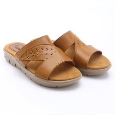 Dr Kevin Women Flat Sandals 27299 Tan Asli