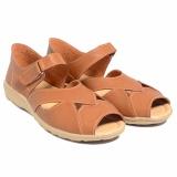 Harga Dr Kevin Women Flat Shoes Peep Toe 43224 Camel Yang Murah