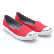 Harga Termurah Dr Kevin Women Flat Shoes Slip On 43185 Red