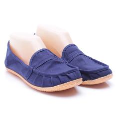 Dr. Kevin Sepatu Wanita Flat 5306 Biru - Sepatu Wanita ala Wakai Slip On Kanvas - Nyaman dipakai