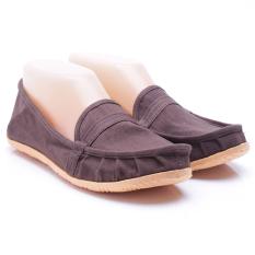 Dr. Kevin Sepatu Wanita Flat 5306 Coklat - Sepatu Wanita ala Wakai Slip On Kanvas - Nyaman dipakai