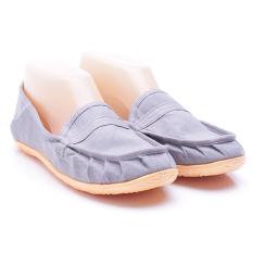 Dr. Kevin Sepatu Wanita Flat 5306 Abu - Sepatu Wanita ala Wakai Slip On Kanvas - Nyaman dipakai
