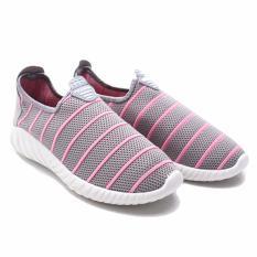 Cara Beli Dr Kevin Sepatu Sneakers Wanita Slip On 43209 Abu Fashion Casual Wanita