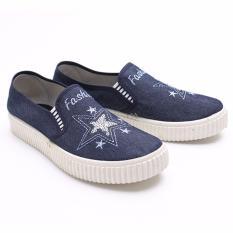 Beli Dr Kevin Women Sneakers Slip On 43178 Blue Cicilan