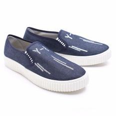 Spesifikasi Dr Kevin Women Sneakers Slip On 43179 Blue Baru