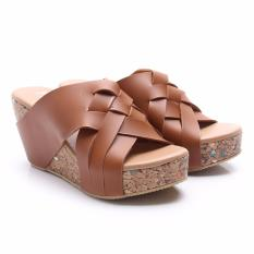 Harga Dr Kevin Women Wedges Sandals 27340 Brown Dr Kevin Terbaik
